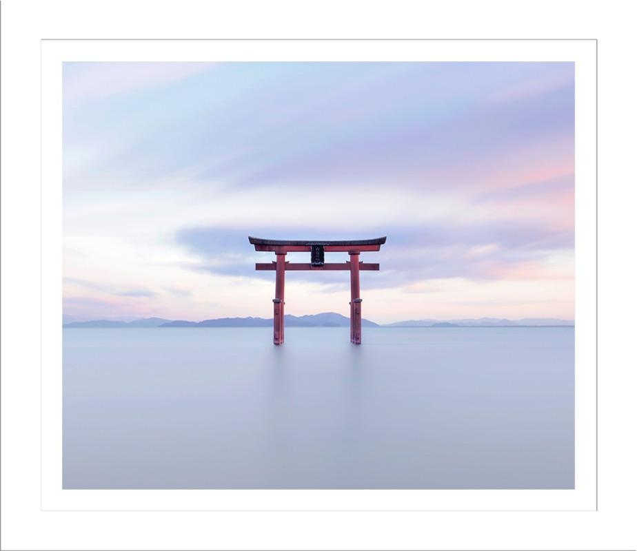 Lake Biwa Torii Gate at Sunset