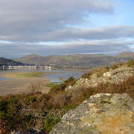 glaslyn estuary porthmadog <br> wales