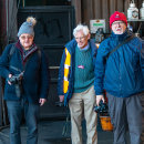 Members John Greig, David Ray and Peter Smyth at the Nene Valley Railway