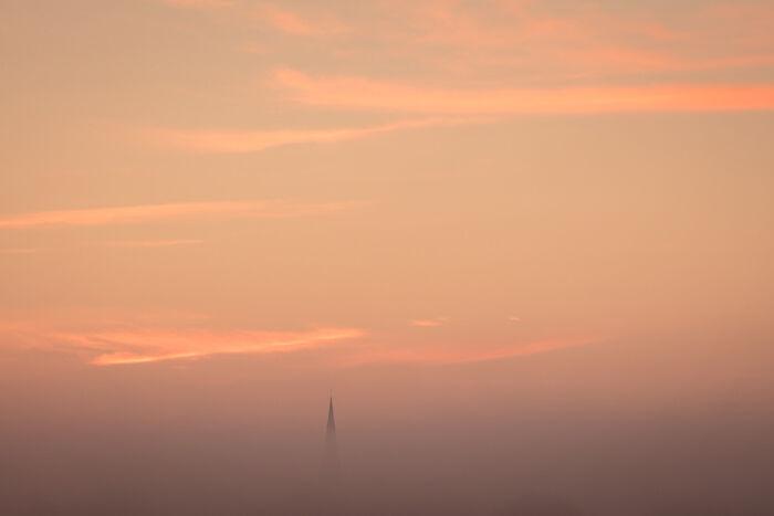 St Marys Godmanchester at Dawn