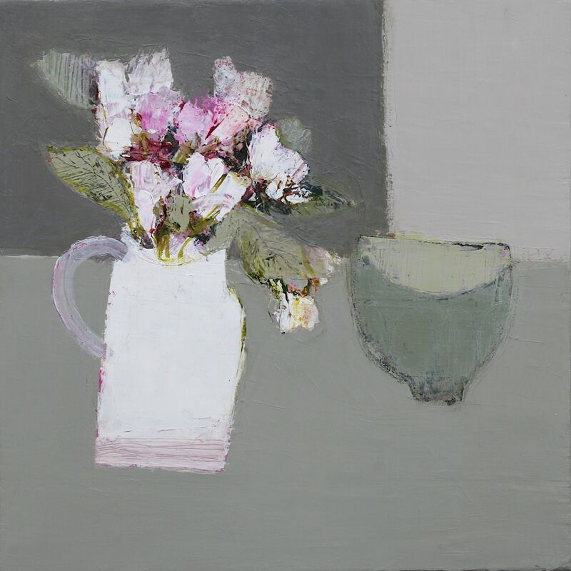 Apple Blossom with Green Bowl