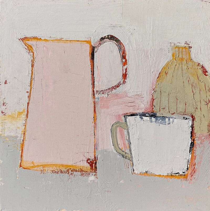 Studio vessels with pink jug