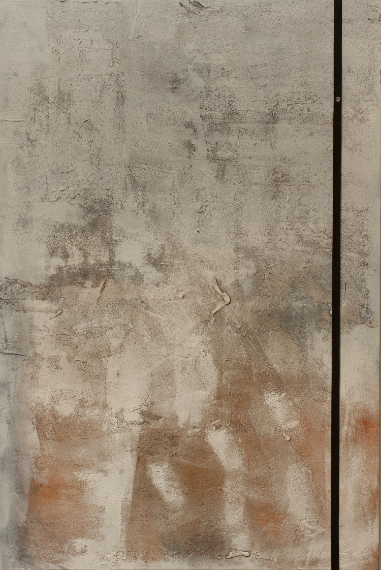 Exilio, mixed media on canvas, 2014. (24 x 34.5 inches)