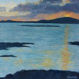 Distant storm at sunset, Harris