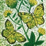 Butterflies, linocut