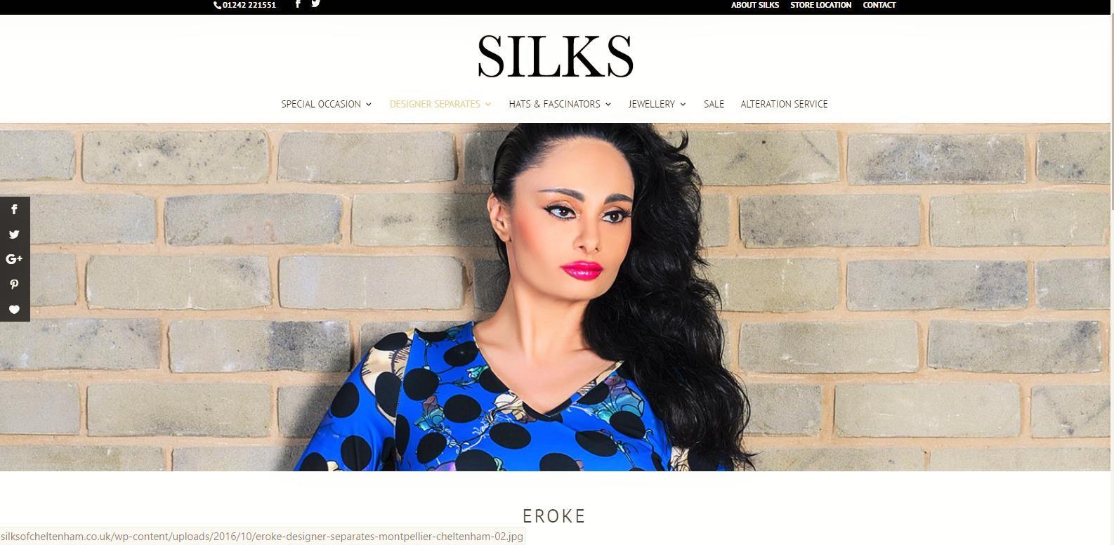 Silks Boutique Homepage