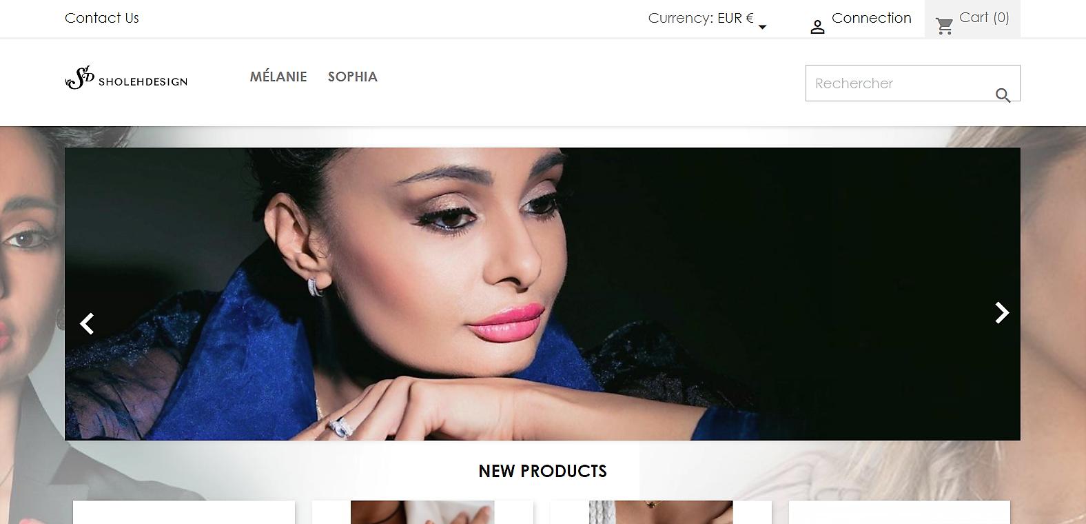 Sholeh Design Homepage