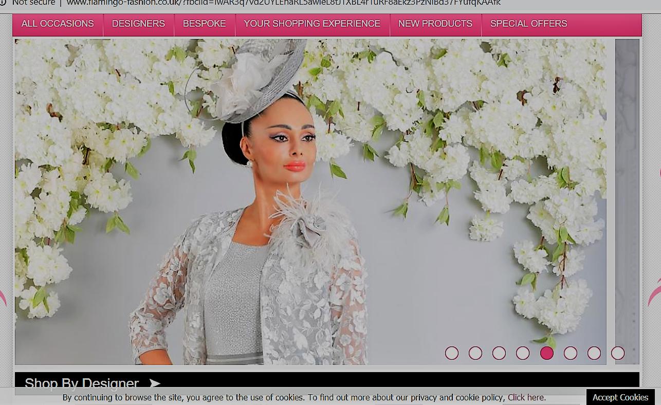Homepage Of 'Flamingo Fashion' Boutique