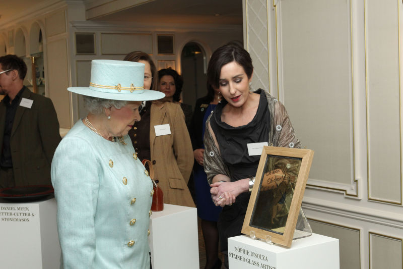 Queen Visits Fortnum and Mason's
