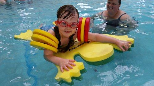 Lily having fun