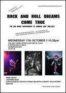 ROCK AND ROLL DREAMS COME TRUE - THE LIVE MUSIC PHOTOGRAPHY OF ANDREW LOCK 2008-2018 - FLYER/POSTER