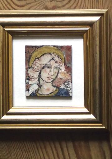 06 framed angel Iris Davies