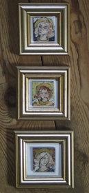 17 three framed angels Iris Davies