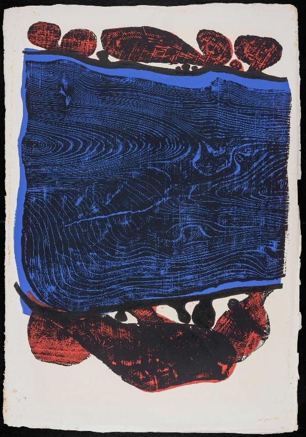 Beutlich River 3 block print
