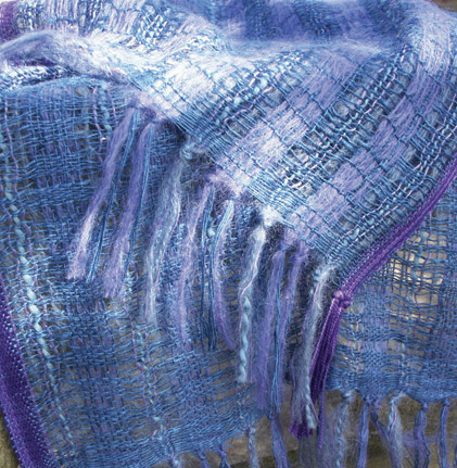 Handwoven scarf /wrap by Fay Hankins SOLD