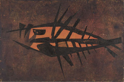 Fish Block print by Tadek Beutlich  V and A Collection