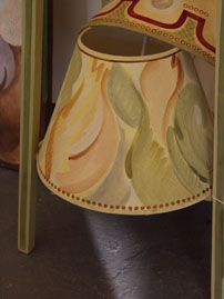Hand painted Bloomsbury lampshade