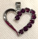 silver heart inset with amethysts