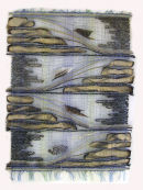 """Undercurrents"" wall hanging by Fay Hankins SOLD"