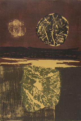 Lake block print by Tadek Beutlich