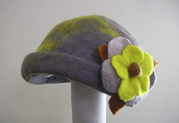 Felt hat by Angela Dewar