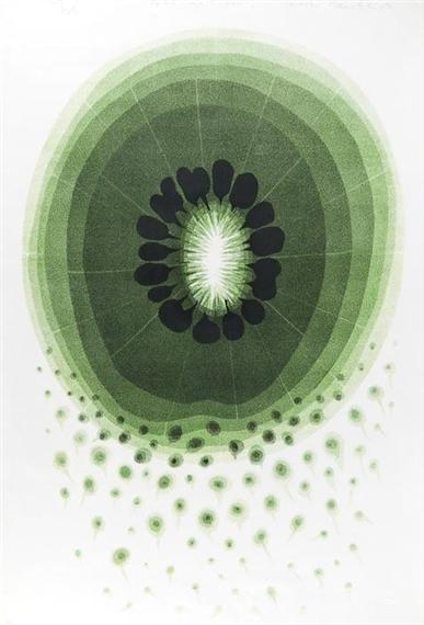 Pollination block print by Tadek Beutlich