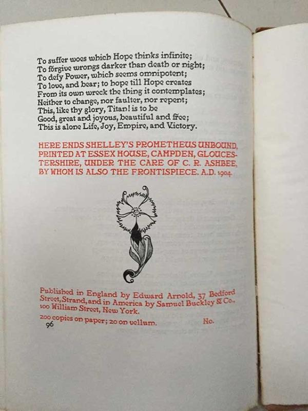Prometheus Unbound no 96 of 200 from Ethel Mairet Gospels
