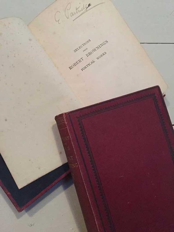 Robert Browning set and Ethel Mairet inscription