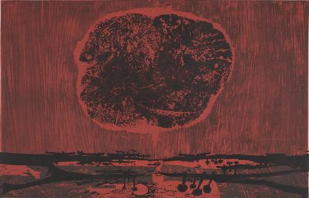 Eruption 4/50 block print by Tadek Beutlich