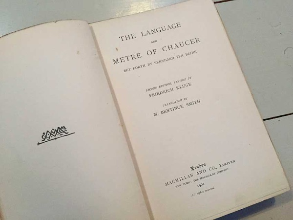 The language and meter of Chaucer from Ethel Mairet's Gospels