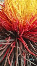 'Thistle' (detail) fibre art by Tadek Beutlich