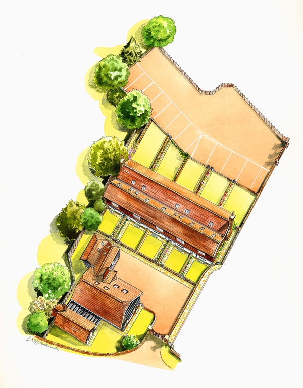 aerial view visual from plans