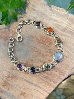 Chakra bracelet set with gemstones