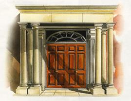 Front door Ellesmere House