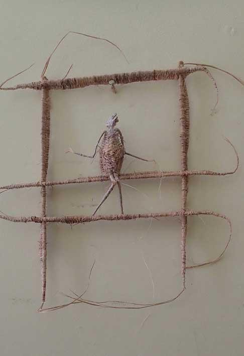 'figure on a scaffolding' by Tadek Beutlich