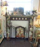 Bloomsbury style hand painted fire surround