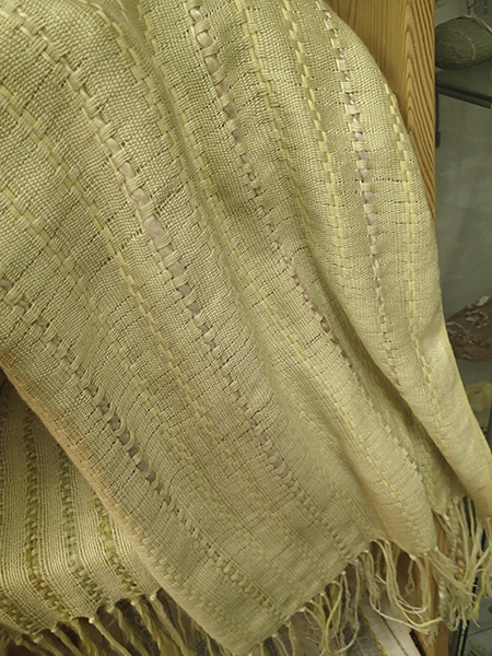 Handwoven scarf by Fay Hankins SOLD