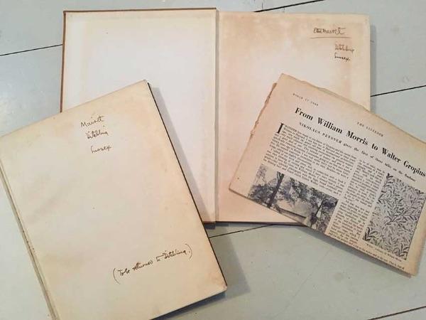 inside Bauhaus inscriptions by Ethel Mairet