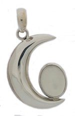 Moon crescent pendant with moonstone