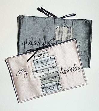 Passport holders by Bridget Davies