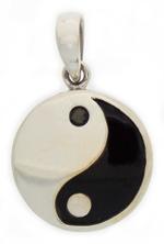 Yin Yang pendant with black onyx