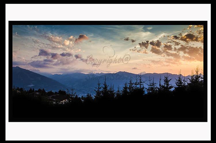 Sunset over Villars