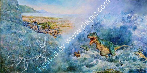 Fossil Flood Mural