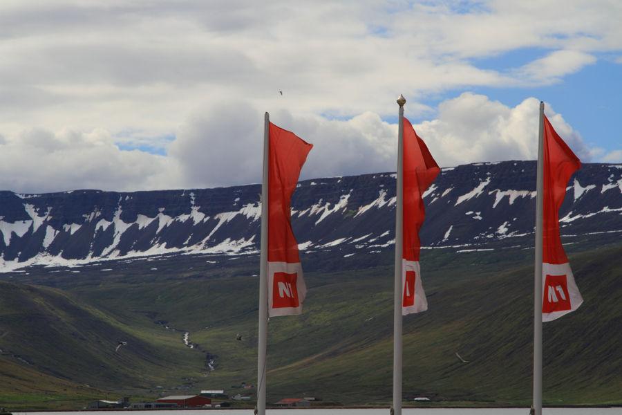 Flags in Isafjordur