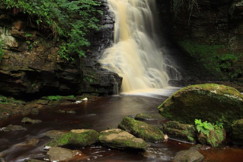 Hareshaw Linn Waterfall