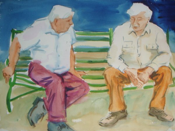 Buckled Old Boys on a Bent Bench!