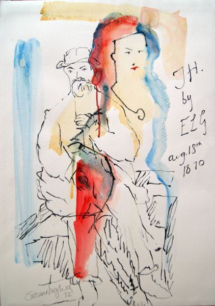 Emma and Thomas Hardy: TH by ELG 2013