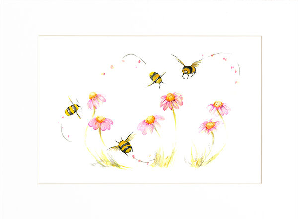 Just Bumbling Along Limited Edition Prints and Cards