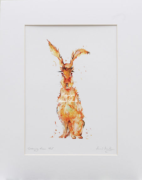Listening Hare Limited Edition Prints and Cards