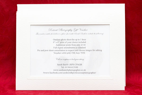 Example Gift Voucher with envelope